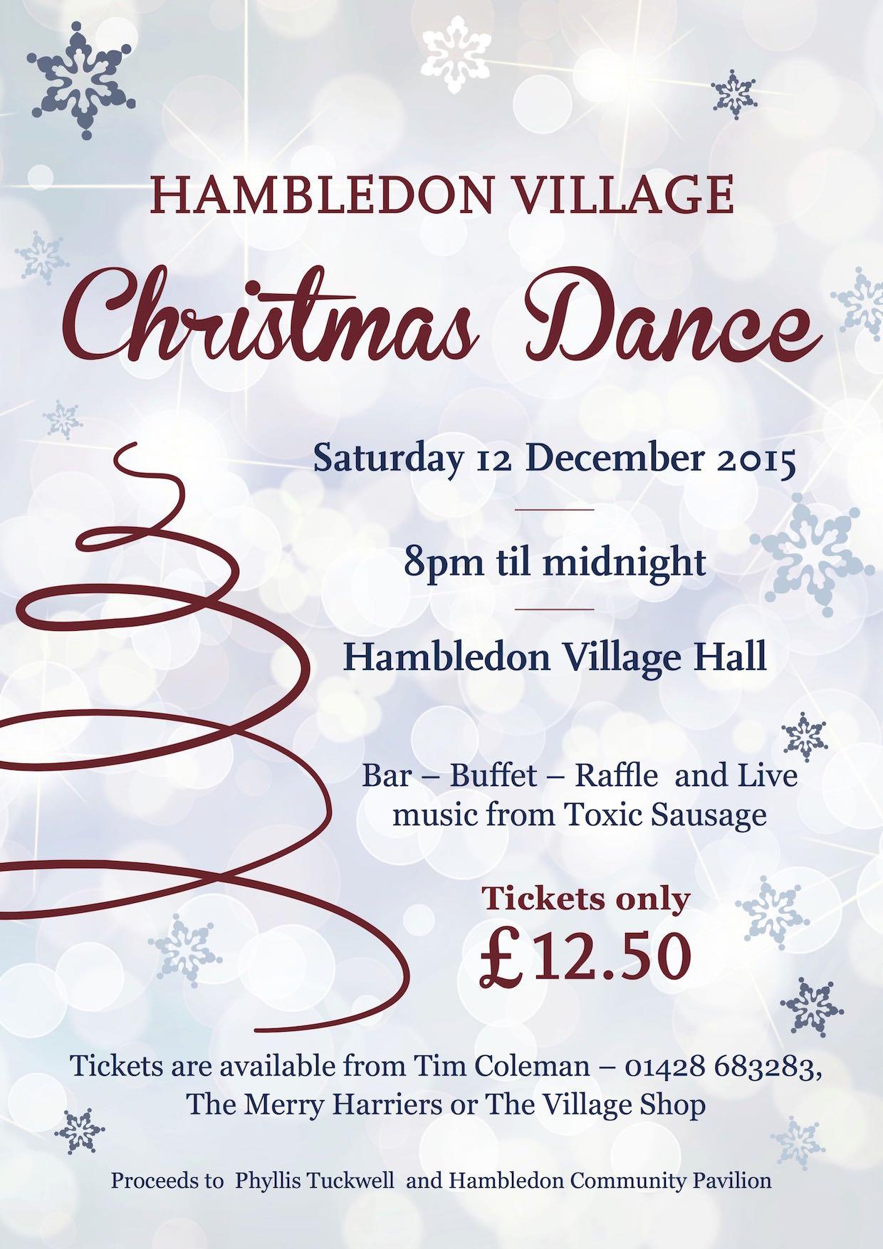2015 Hambledon Christmas Dance POSTER half size