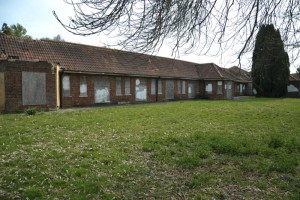 This is the one of the derelict wards towards the North of the site.