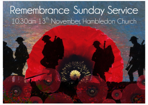 Remembrance service poster 2016