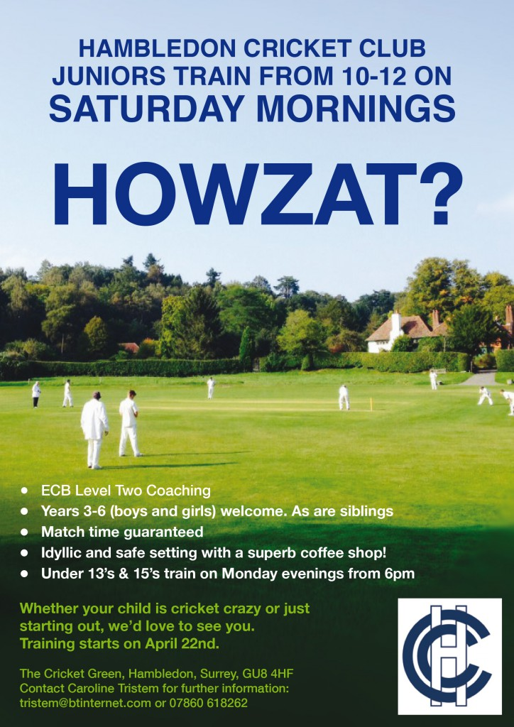 A5 cricket flyer