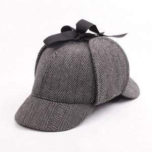 Unisex-Flat-Caps-font-b-Sherlock-b-font-font-b-Holmes-b-font-Hat-Deerstalker-Tweed